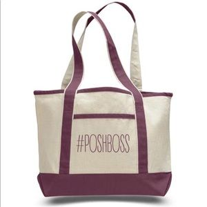 Handbags - #PoshBoss Medium Canvas Boat Tote